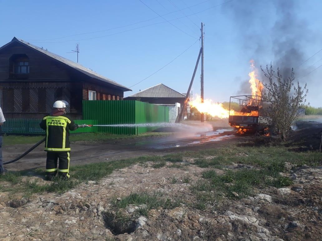 Реагирование подразделений пожарной охраны на пожар в Половинском районе (итог)